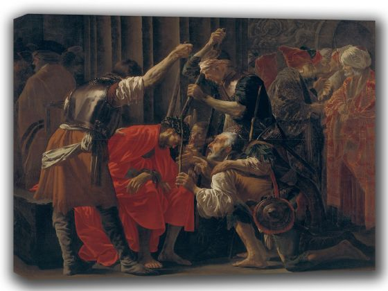 Brugghen, Hendrick Ter: Christ Crowned with Thorns. Fine Art Canvas. Sizes: A4/A3/A2/A1 (002165)